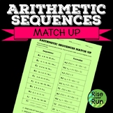 Arithmetic Sequences Match Up, Formulas