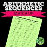 Arithmetic Sequences Match Up, Formulas