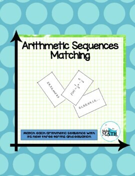 Arithmetic Sequences Matching