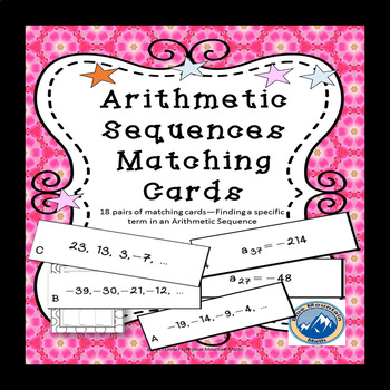 Arithmetic Sequences Matching Card Set