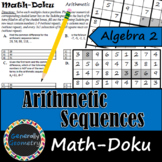 Arithmetic Sequences Math-Doku; Algebra 2, Sudoku