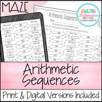 Arithmetic Sequences Teaching Resources  Teachers Pay Teachers