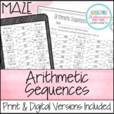 Arithmetic Sequences Maze Worksheet