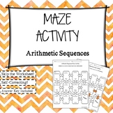 Arithmetic Sequences Maze Activity