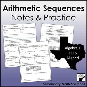 Arithmetic Sequences Notes & Practice (A12C, A12D)