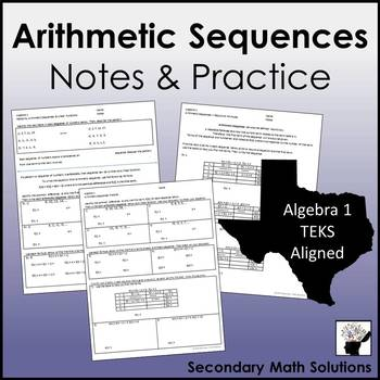 Arithmetic Sequences Notes & Practice (A12C, A12D)