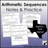 Arithmetic Sequences Notes & Practice