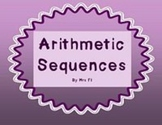 Sequences and Series Unit - Arithmetic Sequences - Notes (flap book)