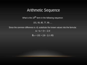 Arithmetic Sequences PP