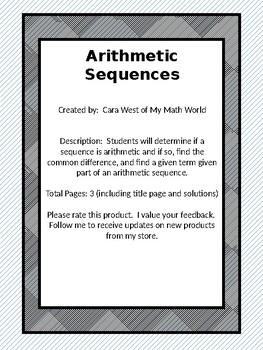 Arithmetic Sequences Part 1