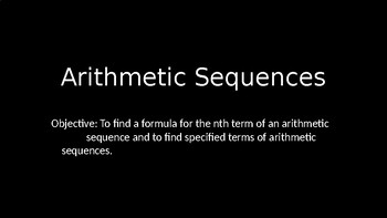 Arithmetic Sequences - PowerPoint Lesson (9.2)