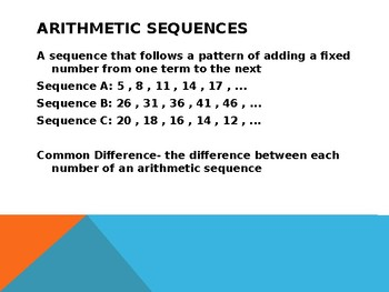 Arithmetic Sequences Powerpoint