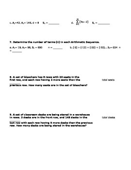 Arithmetic Sequences Practice Worksheet