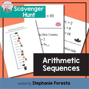 Arithmetic Sequences Scavenger Hunt
