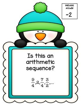 Arithmetic Sequences Scavenger Hunt