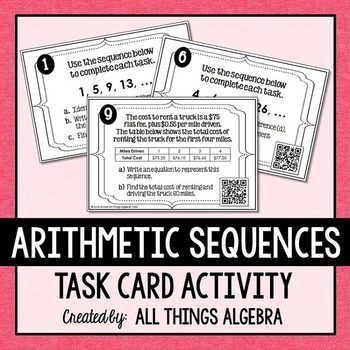Arithmetic Sequences Task Cards