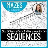 Arithmetic Sequences and Geometric Sequences Mazes