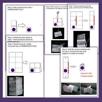 { FREEBIE } Instructions on How to Fold an 8 Page Flip Book / Foldable