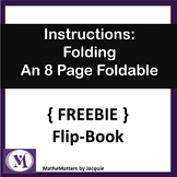 { FREEBIE } Instructions on How to Fold an 8 Page Flip Boo