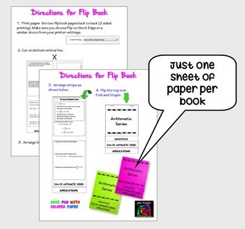 Arithmetic Series Task Cards and Foldable Organizer