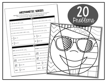 Arithmetic Series Coloring Activity