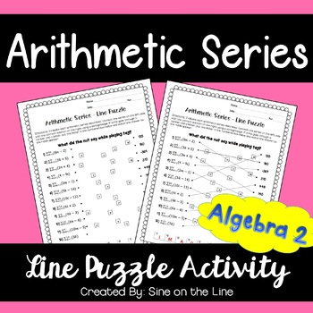 Arithmetic Series: Line Puzzle Activity