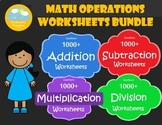 Basic Operations Worksheets, Add Subtract Multiply Divide Whole Numbers Review