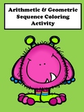 Arithmetic and Geometric Sequence Coloring Activity