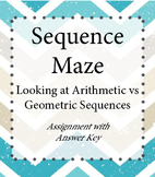 Arithmetic and Geometric Sequence Maze