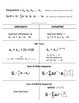 Arithmetic and Geometric Sequence, Sum, Nth Term, Cheat Sheet - Foldable