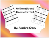 Arithmetic and Geometric Sequence Test