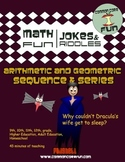 Arithmetic and Geometric Sequences and Series FUN - Halloween Ready!