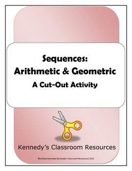 Arithmetic and Geometric Sequences Activity - 3 Versions!