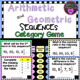 Arithmetic and Geometric Sequences Category Game