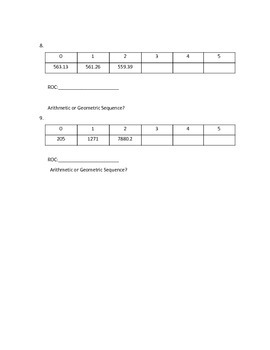 Arithmetic and Geometric Sequences Extra Practice #1
