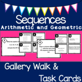 Arithmetic and Geometric Sequences {Gallery Walk & Task Cards}