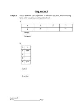 Arithmetic and Geometric Sequences Lesson 8 of 10