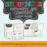 Arithmetic Sequences and Geometric Sequences Lesson Bundle