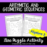 Arithmetic and Geometric Sequences: Line Puzzle Activity