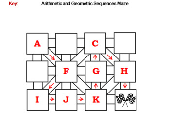 Arithmetic and Geometric Sequences: Math Maze