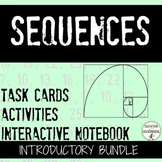 Arithmetic and Geometric Sequences Notes and Activities fo