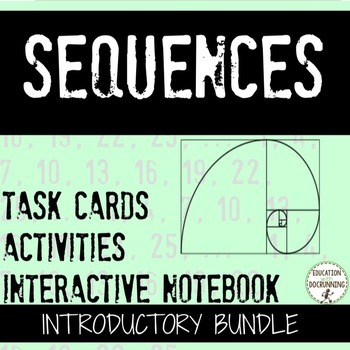 Arithmetic and Geometric Sequences Notes and Activities Re