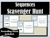 Arithmetic and Geometric Sequences Scavenger Hunt
