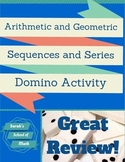 Arithmetic and Geometric Sequences and Series Domino Activity