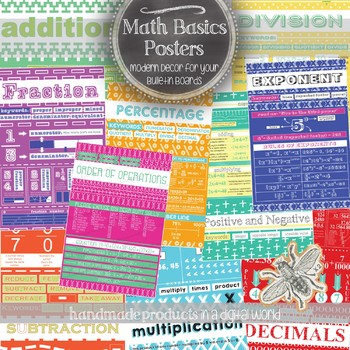 Arithmetic and Math Basics: 40 Classroom Posters, Handouts