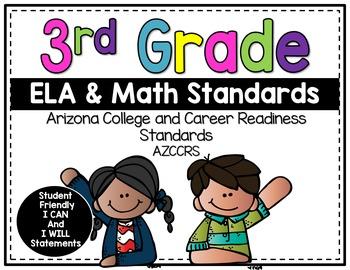 Arizona 3rd Grade Student Friendly Standards