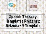 Arizona-4 Template | Speech Therapy Assessment