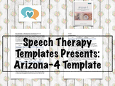 Arizona-4 Template | Speech Therapy Assessment