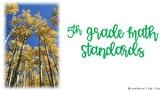 "Arizona 5th Grade ""I Can"" Math Standards"