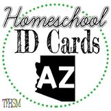 Arizona (AZ) Homeschool ID Cards for Teachers and Students